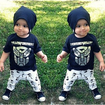 Abacaxi Kids Transformers 2pc Outfit with Pants 9M-24M