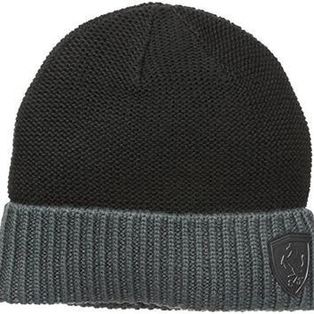 PUMA Men's Ferrari Lifestyle Beanie, Black, One Size