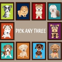 PUPPY Dogs Wall Art DOG Baby Boy Bedroom Prints Puppy Dog Nursery Boy Artwork Prints Dog Theme Baby Boy Nursery Decor Pick Any 3 Set of 3