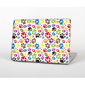 """The Colorful Scattered Paw Prints Skin for the Apple MacBook Air 13"""""""
