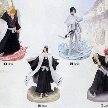 Banpresto 2005 Bleach Real Collection Part Vol 2 4 Trading Figure Set