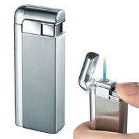 Visol Russo Satin Silver Torch Flame Lighter