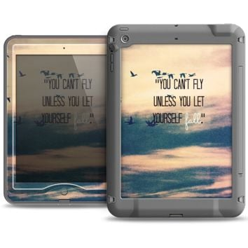 The Pastel Sunset You Cant Fly Unless You Let Yourself Fall Apple iPad Air LifeProof Nuud Case Skin Set