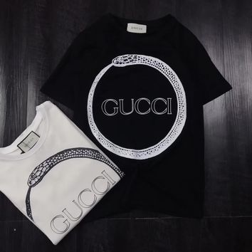 Gucci Hot Letters Print T Shirt Top-8
