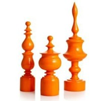 One Kings Lane - Zodax - 3 Asst. Atrium Mango Wood Finials