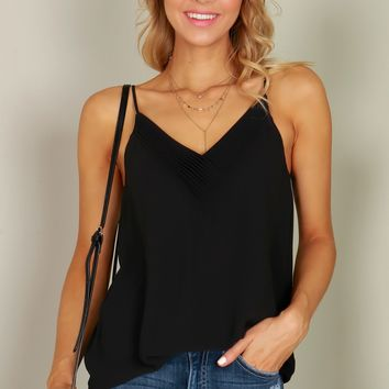 Detailed Tank Top Black