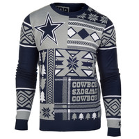 """Dallas Cowboys Official Men's NFL """"Ugly Sweater"""" by Klew"""