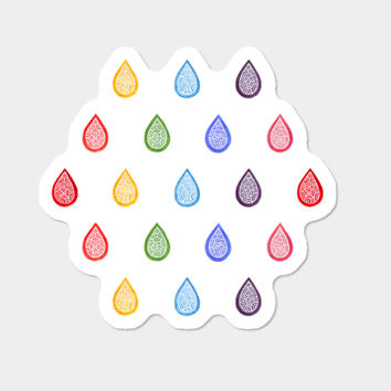 Rainbow Droplets Sticker By Savousepate Design By Humans