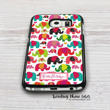 Elephant Kids-Lilly Pulitzer Samsung Galaxy S6 Case Cover for S6 Edge S5 S4 Case