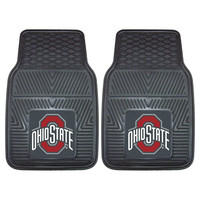 Ohio State Buckeyes NCAA Heavy Duty 2-Piece Vinyl Car Mats (18x27)