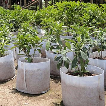 Aeration Container  Grow Bag Round Fabric Pots Plant Pouch Root Container Grow Bag