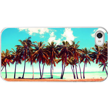 Iphone Case  Beach Palm Trees Aqua Summer by SevenElevenStudios
