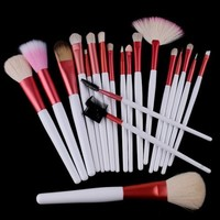 Beyondtek® 20 PCS Makeup Brush Set + Pink Pouch Bag