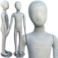 "MN-100 Pinnable & Flexible Kid Mannequin with Head 4' 3"" (6C-7C)"