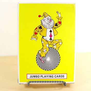 "Jumbo Playing Cards - Man Cave Wet Bar - 5"" x 7"" Cards"