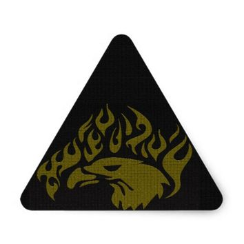 Eagle Triangle Sticker