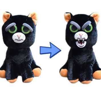 "Feisty Pets Katy Cobweb- Adorable 8"" Plush Stuffed Black Cat"