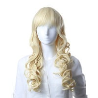 Long Wavy Light Blonde Lace Front Women Lady's Cosplay Hair Full Wigs MYS03
