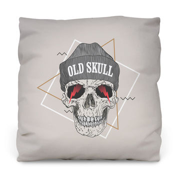 Beanie Bad – White Throw Pillow