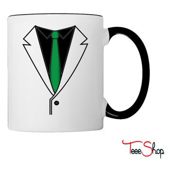 Suit with Green Tie Coffee & Tea Mug