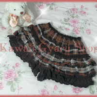 Liz Lisa Plaid Flannel Tiered Sukapan from Kawaii Gyaru Shop