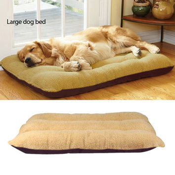 100*75CM Big Size Large Dog Bed Kennel Mat Soft Fleece Pet Dog Puppy Cat Warm Bed House Plush Cozy Nest Dog House Pad