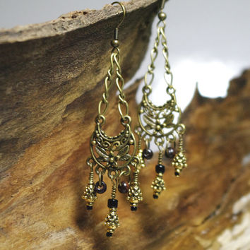 Gypsy Rustic Retreat  - Teardrop Chandelier Earrings