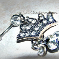 Princess Crown BellyRing,Direct Checkout,Piercing,Belly Ring Jewelry