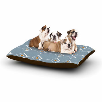 "Stephanie Vaeth ""Diamonds"" Blue Modern Dog Bed"