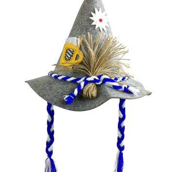 "Oktoberfest Hat ""Farmer"" with Braids"