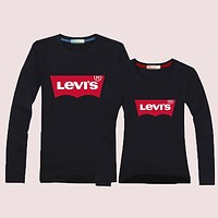 Levi's Women Men Lover Casual Long Sleeve Top Sweater Pullover