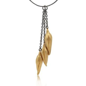 ALL NEW Triple Pod Pendant in Gold and Silver