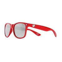 University of Wisconsin Throwback Sunglasses in Red by Society43