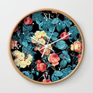 NIGHT FOREST XII Wall Clock by Burcu Korkmazyurek