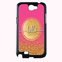hello gold glitter FOR SAMSUNG GALAXY NOTE 2 CASE**AP*