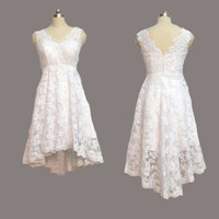 Homecoming Dress,White Sweertheart Lace Straps Short Prom Dress