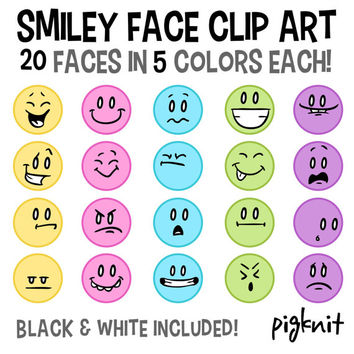 Smiley Face Clip Art, Emoticon Clip Art, Facial Expressions, Face Clipart, Color Emoticon, Happy Face Clip Art, Classroom Download, Frown