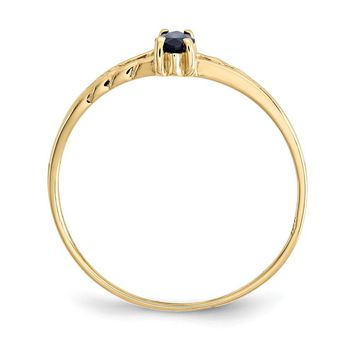 10k Yellow Gold Polished Natural Sapphire Birthstone Ring