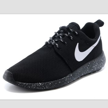 """NIKE"" roshe Trending Fashion Casual Sports A Simple yet Powerful Style Nike Shoes Black (black starry sky soles)"