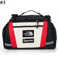 The North Face x Supreme co-branded men and women colorblock chest bag Messenger bag #3