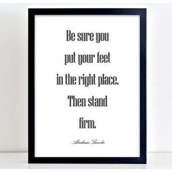 Stand Firm Print Motivational Poster Word Art Print Kitchen Quote Motivation Famous Wall Sign Letters Home Decor  PP42