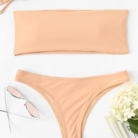 Detachable Straps Bikini Set
