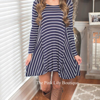 Find Me By The Sea Navy Dress