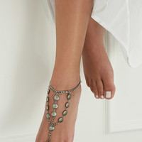 Floral Etched Foot Chain