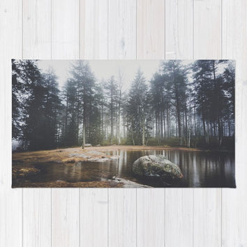 Moody mornings Rug by happymelvin