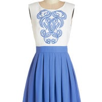 ModCloth Mid-length Sleeveless A-line Network of Art Dress