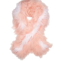 Bi-colour shearling scarf | Fendi | MATCHESFASHION.COM US