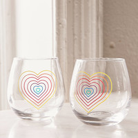 Rainbow Stemless Wine Glasses Set | Urban Outfitters