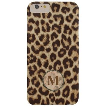 Leopard Print Monogram Barely There iPhone 6 Plus Case