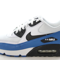 Nike Air Max 90 Men's White/Military Blue/Black Running Gym/Trainers Shoes 537384 114